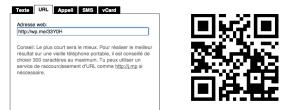 L'URL raccourci du blog est plus 'simple' que celui du haut de l'article dont l'URL est entier