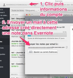 Evernote mail